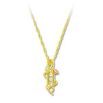 Landstrom's Black Hills Gold leaf and diamond necklace