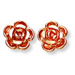 Landstrom's Black Hills Gold rose gold flower earrings