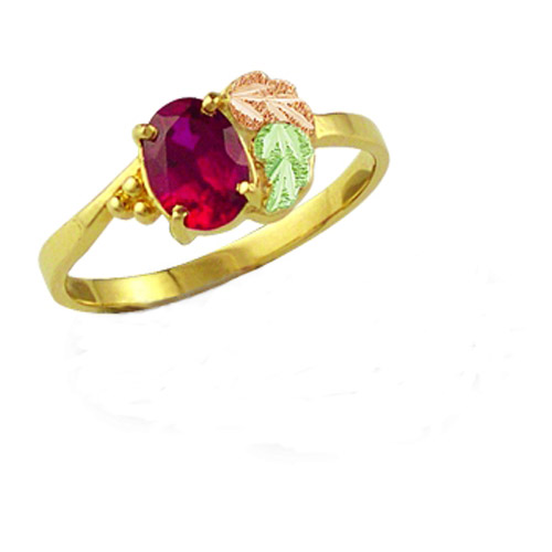 Landstrom's Black Hills Gold garnet ring