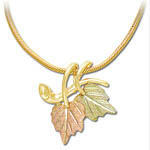 Landstrom's Black Hills Gold leaf necklace