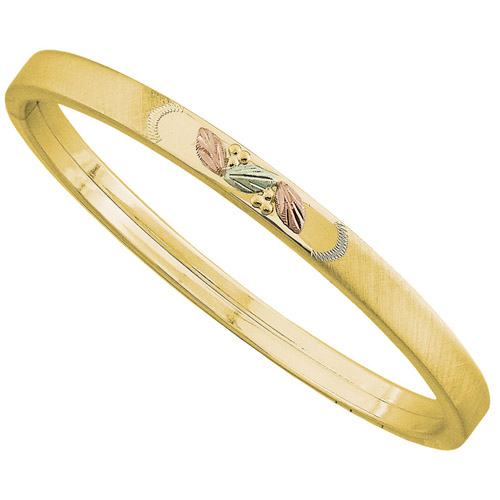 Landstrom's Black Hills Gold yellow gold stackable bangle bracelet