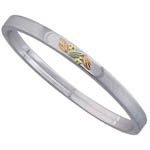 Landstrom's Black Hills Gold Sterling Silver stackable bangle bracelet