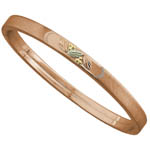 Landstrom's Black Hills Gold Rose Gold stackable bangle bracelet