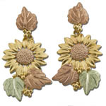 Landstrom's Black Hills Gold Sunflower earrings