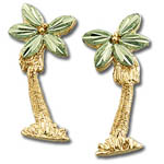 Landstrom's Black Hills Gold palm tree earrings