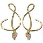 Landstrom's Black Hills Gold spiral leaf earrings