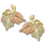 Landstrom's Black Hills Gold leaf earrings