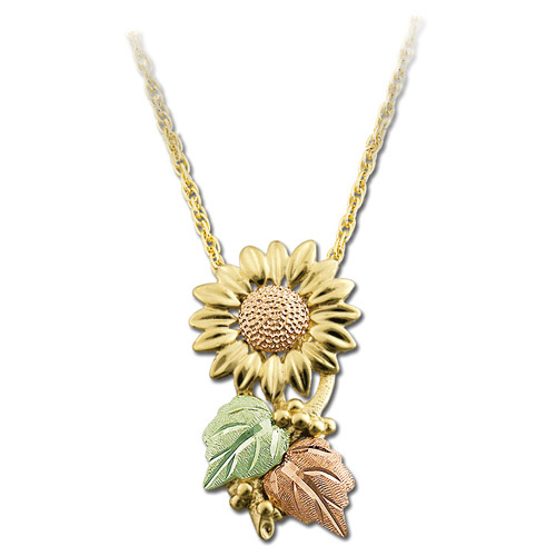 Landstrom's Black Hills Gold Sunflower necklace