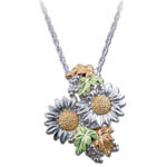 Landstrom's Black Hills Gold Sterling Silver Sunflower necklace