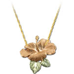 Landstrom's Black Hills Gold Hibiscus flower necklace