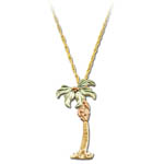 Landstrom's Black Hills Gold palm tree necklace