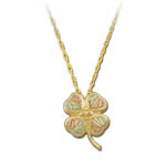 Landstrom's Black Hills Gold Four Leaf Clover necklace