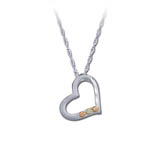 Landstrom's Black Hills Gold Sterling Silver heart necklace
