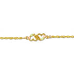 Landstrom's Black Hills Gold double heart bracelet