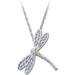 Landstrom's Black Hills Gold Sterling Silver dragonfly necklace
