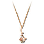 Landstrom's Black Hills Gold flower and leaf necklace