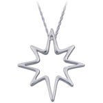 Landstrom's Black Hills Gold Sterling Silver starburst necklace