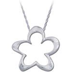 Landstrom's Black Hills Gold Sterling Silver flower necklace