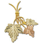 Landstrom's Black Hills Gold leaf brooch