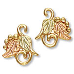 Landstrom's Black Hills Gold grape and leaf earrings