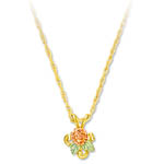 Landstrom's Black Hills Gold rose and leaf necklace