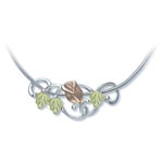 Landstrom's Black Hills Gold Sterling Silver rose necklace