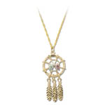 Landstrom's Black Hills Gold dreamcatcher necklace