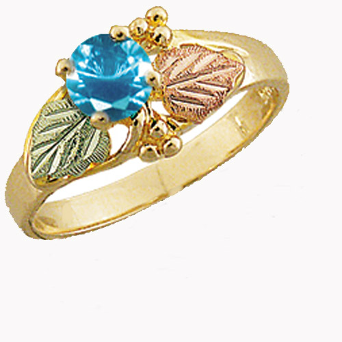 Landstrom's Black Hills Gold Blue Swiss Cubic Zirconia ring