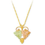 Landstrom's Black Hills Gold grape and leaf necklace