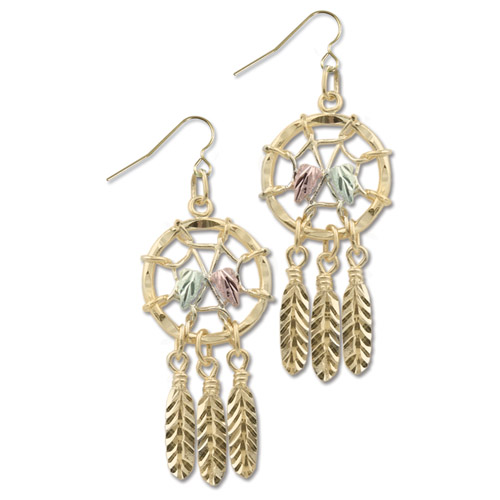 Landstrom's Black Hills Gold Dreamcatcher earrings