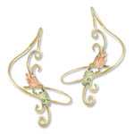 Landstrom's Black Hills Gold swirling dangle earrings
