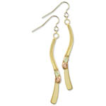 Landstrom's Black Hills Gold angled dangle earrings