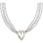 Landstroms Black Hills Gold Sterling Silver heart link necklace