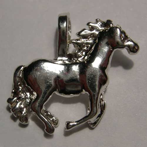 Sterling Silver galloping horse charm/pendant