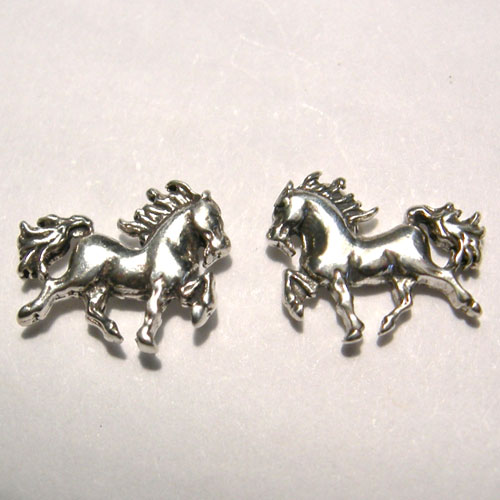 Strling Silver small prancing horse post earrings
