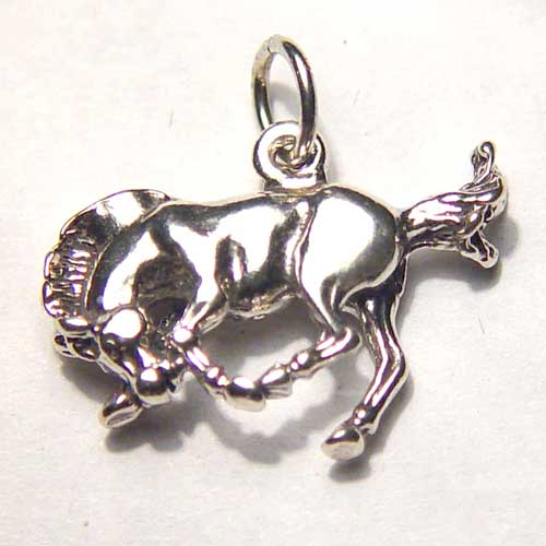 Sterling Silver small bucking bronco charm/pendant