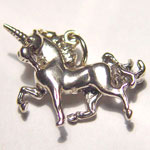 Sterling SIlver 3D small prancing unicorn charm/pendant