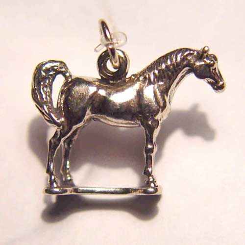 Sterling Silver small Arabian horse charm/pendant