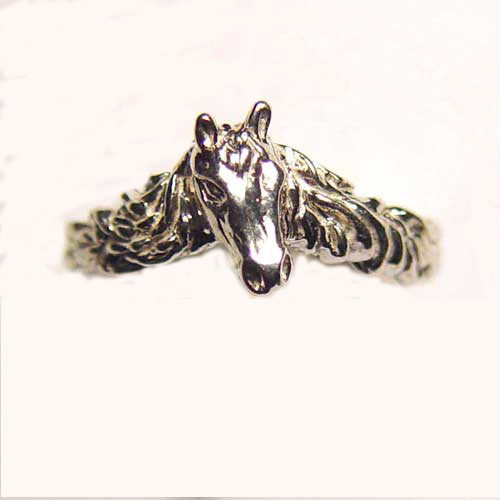 Sterling Silver small horse head ring