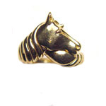 14 kt.y.g. horse head ring