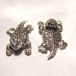 Sterling Silver textured Horned Toad post earrings