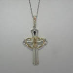 Landstroms Black Hills Gold double heart cross necklace