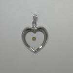 Sterling Silver heart with Mustard Seed heart shaped pendant