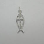 Sterling Silver Cross in Ichthus pendant