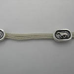 close up of horse designs on Sterling Silver two strand necklace