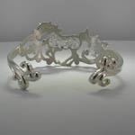 back of Landstroms filigree galloping horse bracelet