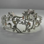 Landstroms Black Hills Gold Sterling Silver filigree galloping horse bracel