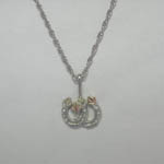 Black Hills Gold Sterling Silver double horse shoe neckace