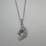 Black Hills Gold Sterling Silver small horse head necklace