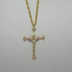 Black Hills Gold cross necklace